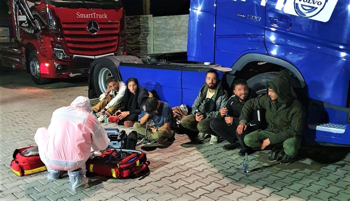 Sześcioro imigrantów próbowało dostać się do Niemiec i Szwecji w naczepie tira - Zdjęcie główne