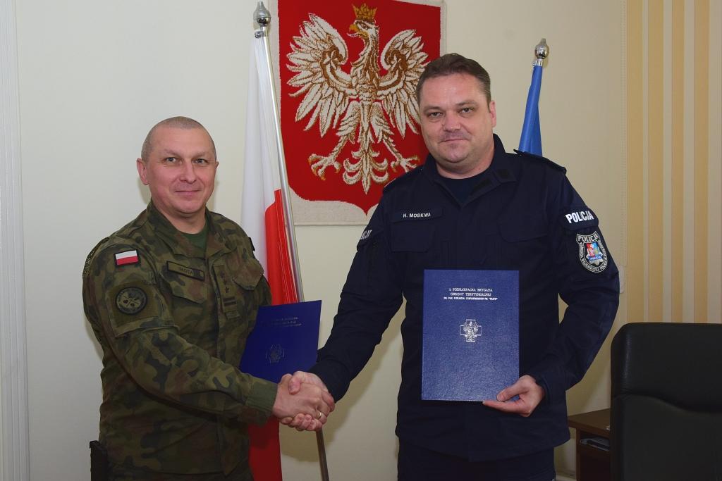 Podkarpaccy terytorialsi podpisali porozumienie o współpracy z policją - Zdjęcie główne