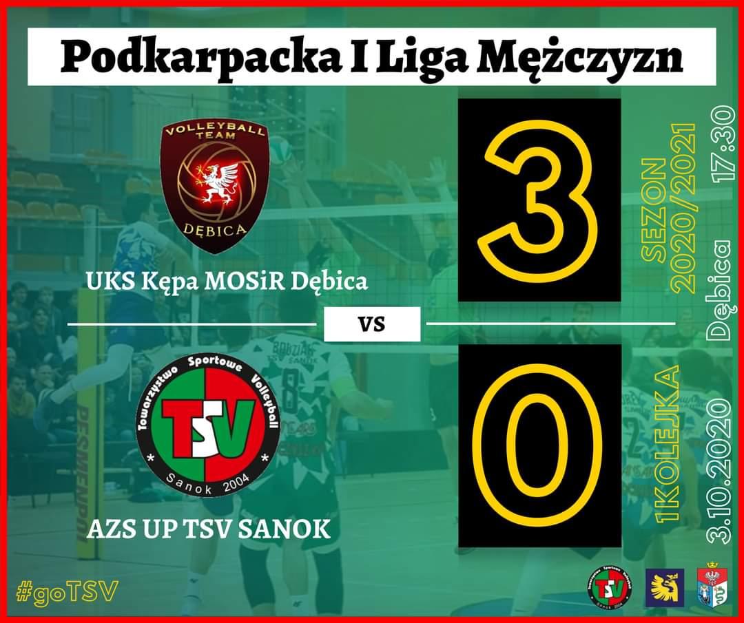 TSV Sanok przegrywa na inaugurację I Ligi Podkarpackiej w Dębicy z UKS Kępa - Zdjęcie główne