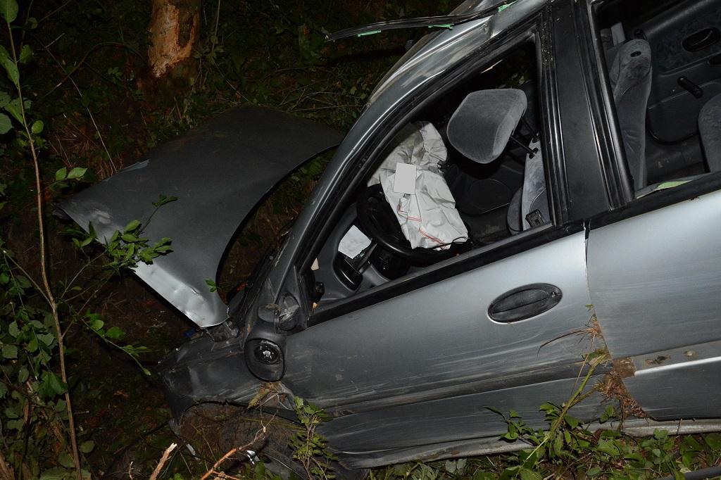Kompletnie pijany wypadł z drogi ZDJĘCIA - Zdjęcie główne
