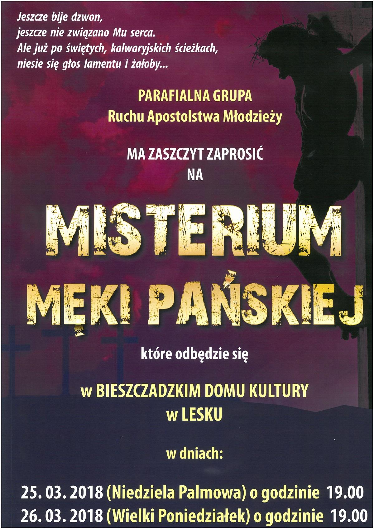 Misterium Męki Pańskiej w Lesku - Zdjęcie główne