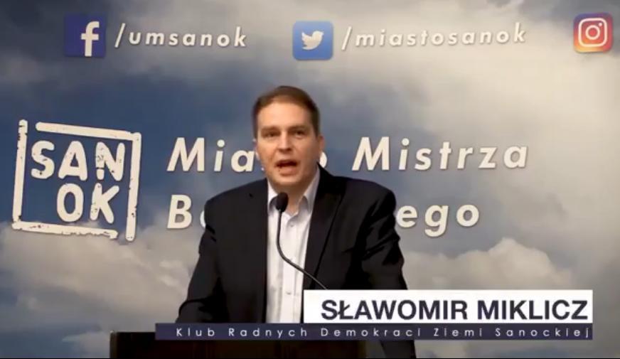 Sławomir Miklicz odpowiada burmistrzowi - Zdjęcie główne