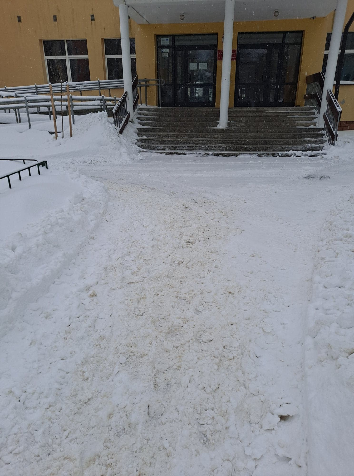 Teren szkoły podstawowej nr 4 jest rzetelnie odśnieżony [ZDJĘCIA] - Zdjęcie główne