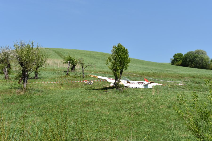 Wypadek szybowca w Żernicy - Zdjęcie główne