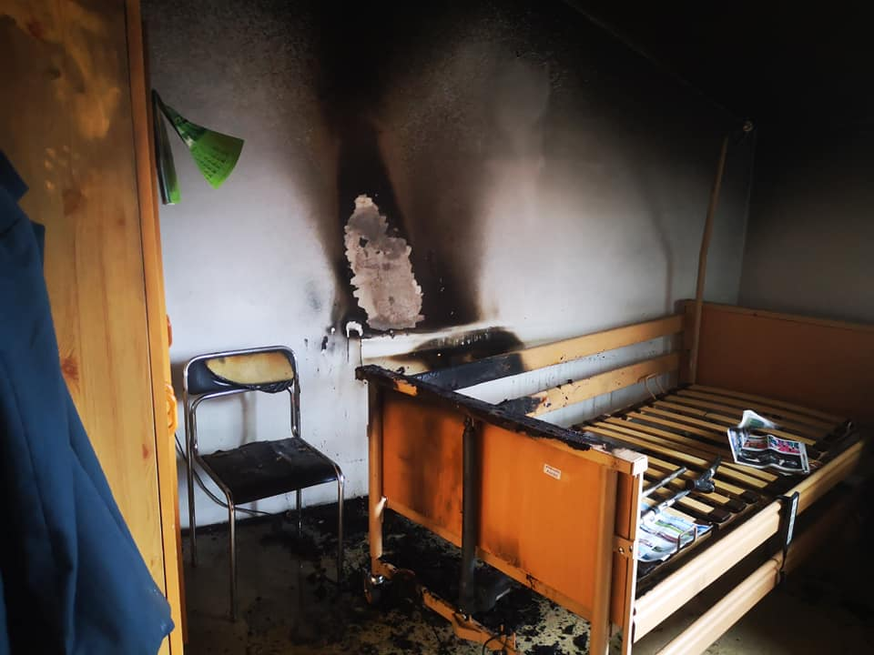 Pożar w domu opieki. Interweniował śmigłowiec LPR! - Zdjęcie główne