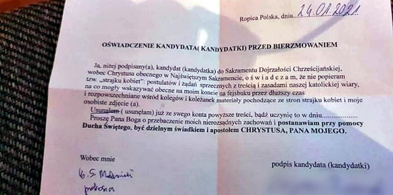 Ksiądz nie dopuści do bierzmowania tych, którzy popierają strajk kobiet! - Zdjęcie główne