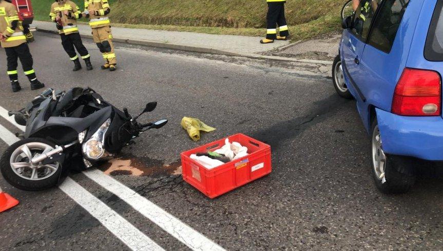 GRABOWNICA STARZEŃSKA: Niefortunne wyprzedzanie motocyklisty [ZDJĘCIA] - Zdjęcie główne