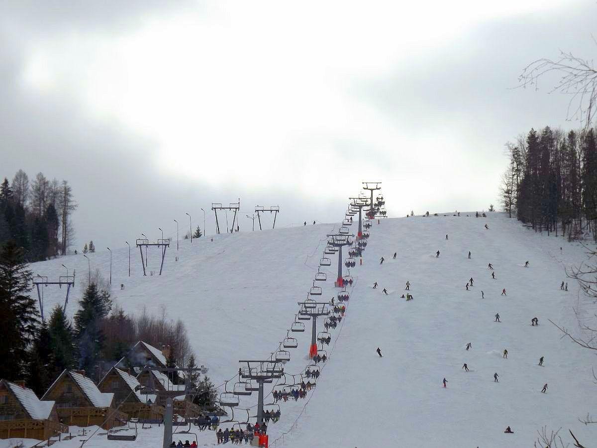 Weekendowe oblężenie stacji narciarskiej w Gromadzyniu [ZDJĘCIA] - Zdjęcie główne