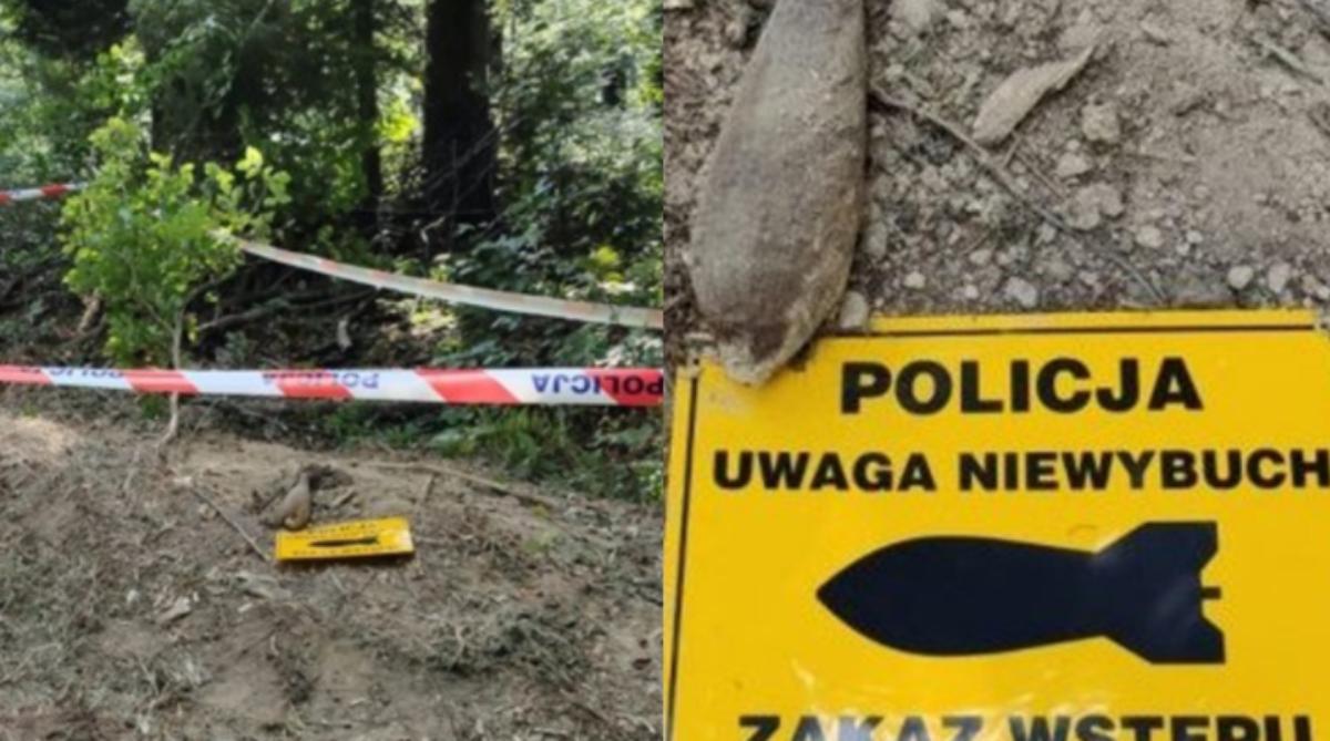 Znaleziono pocisk moździerzowy w Bieszczadach!  - Zdjęcie główne