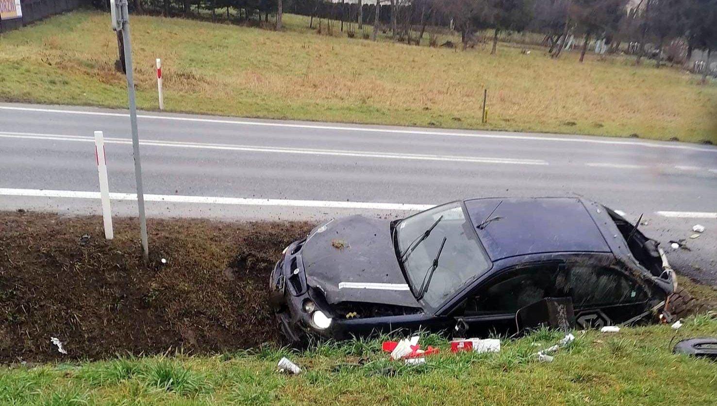 ZAGÓRZ: Zakończył jazdę na betonowym przepuście - Zdjęcie główne