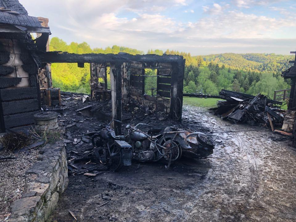 Pożar zniszczył cenną kolekcję motocykli ratownika GOPR. Pomóżmy ją odbudować! - Zdjęcie główne