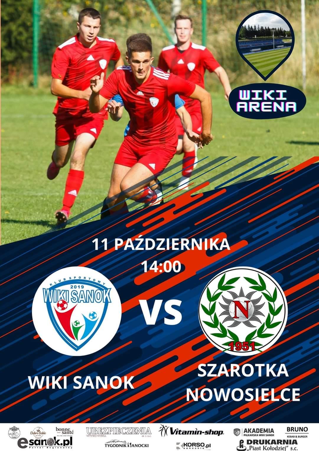 Lider A klasy Wiki Sanok zagra z Szarotką Nowosielce - Zdjęcie główne