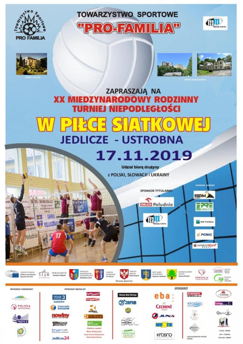 Międzynarodowy Rodzinny Turniej Niepodległości w Piłce Siatkowej  PRO-FAMILIA CUP 2019 - Zdjęcie główne