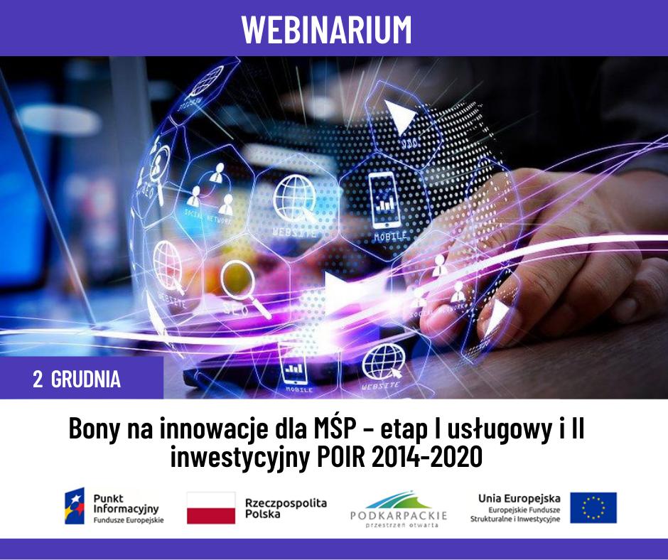 """Sanok. """"Bony na innowacje dla MŚP – etap I usługowy i II inwestycyjny POIR 2014-2020"""" - Zdjęcie główne"""