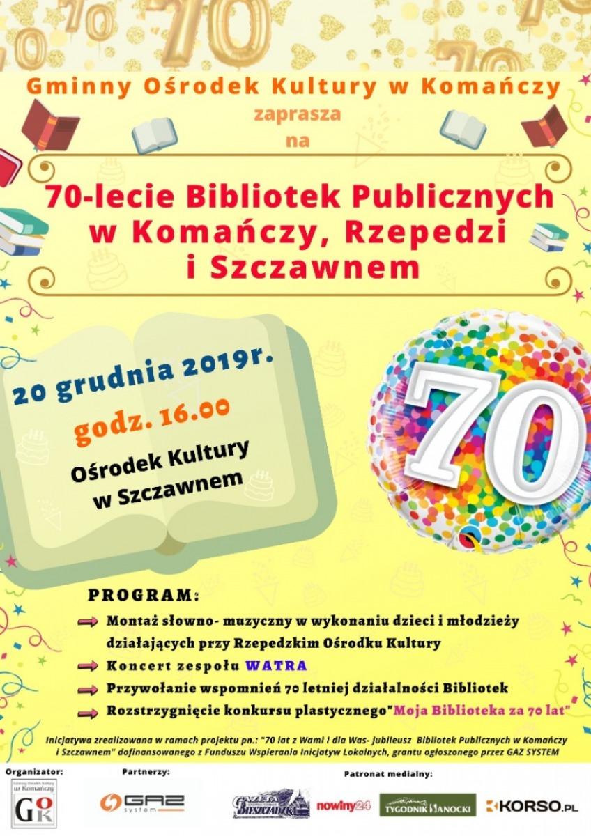 70 lat z Wami i dla Was - jubileusz Bibliotek Publicznych w Komańczy i Szczawnem - Zdjęcie główne