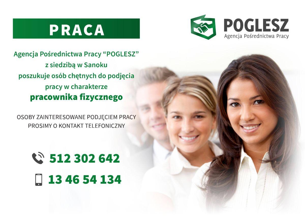 Firma POGLESZ zatrudni pracowników! - Zdjęcie główne