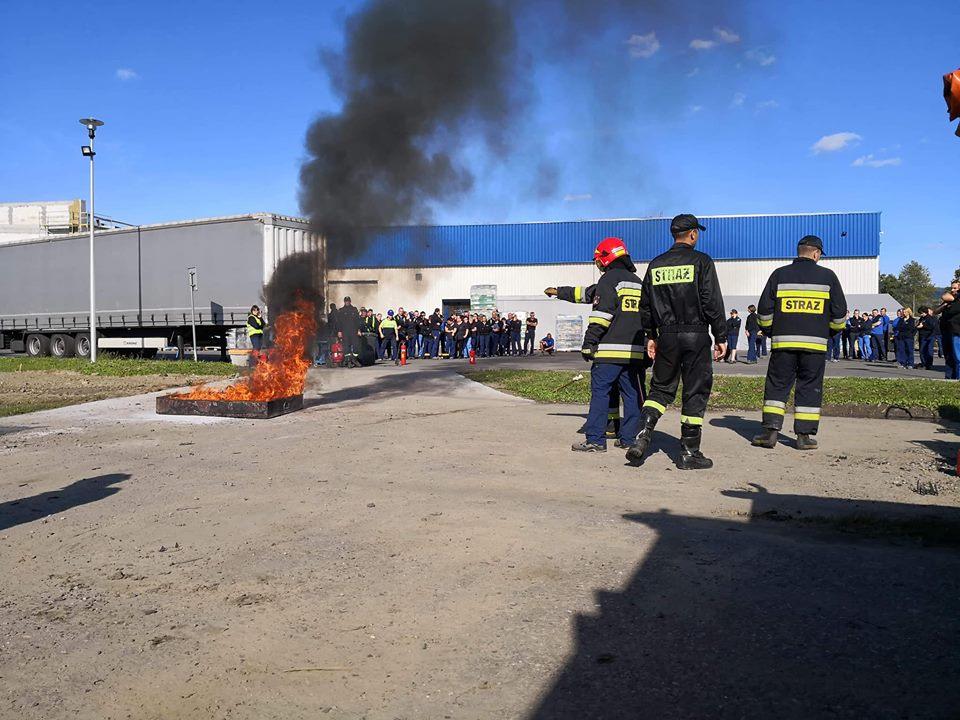 Pożar w fabryce Zagórzu. Ewakuacja zakładu [ZDJĘCIA] - Zdjęcie główne