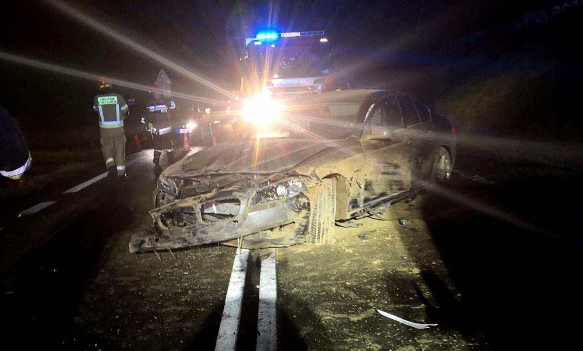 Zahutyń: Nieszczęśliwy powrót z imprezy. Kierująca BMW straciła panowanie nad pojazdem [FOTO] - Zdjęcie główne
