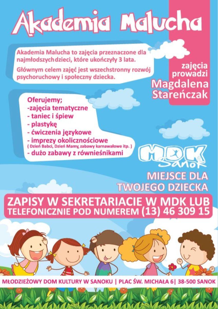 Akademia Malucha w MDK  - Zdjęcie główne