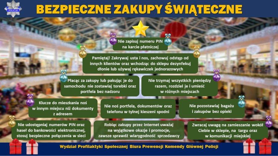Bezpieczne zakupy świąteczne - Zdjęcie główne