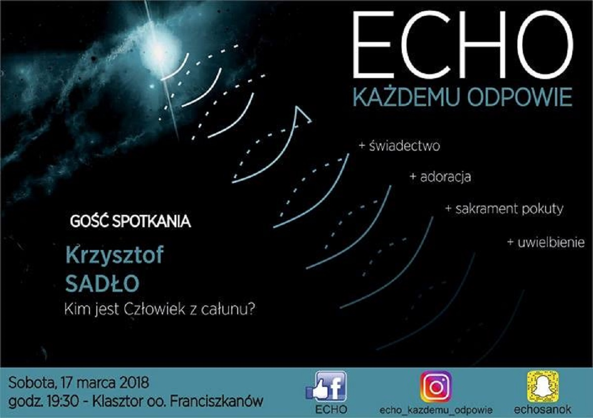 ECHO u Franciszkanów w Sanoku - o Całunie Turyńskim - Zdjęcie główne