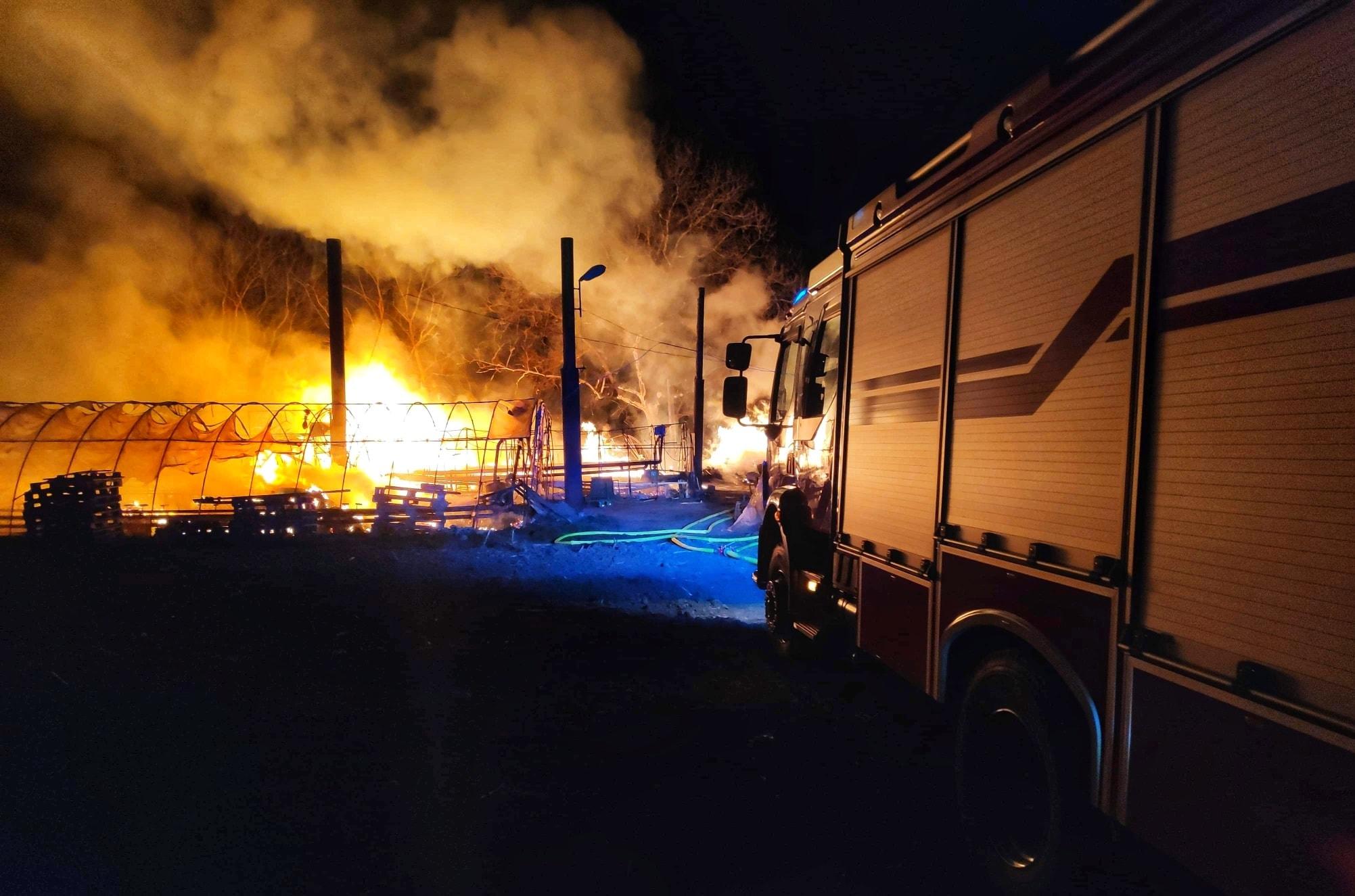 Z PODKARPACIA. Spłonęły szklarnie i budynki w gospodarstwie [FOTO] - Zdjęcie główne