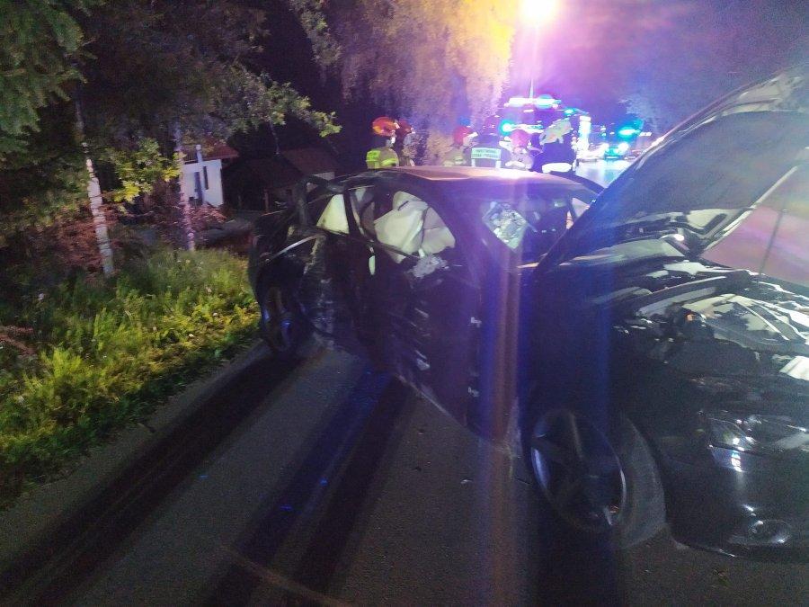 BRZOZÓW: Kierujący audi stracił panowanie nad pojazdem i uderzył w drzewo [ZDJĘCIA] - Zdjęcie główne