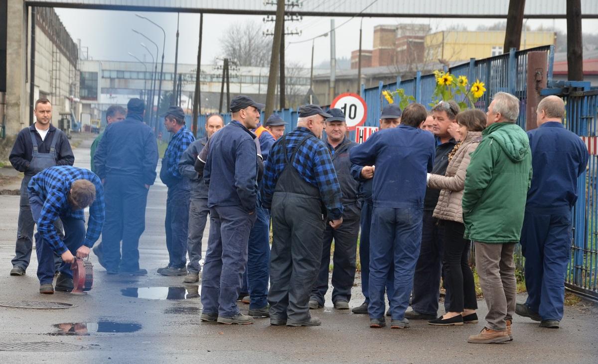 Pracownicy Autosanu znowu wyszli na ulicę VIDEO - Zdjęcie główne