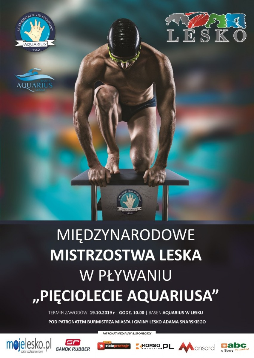 Zapraszamy na Międzynarodowe Mistrzostwa Leska w Pływaniu - Zdjęcie główne