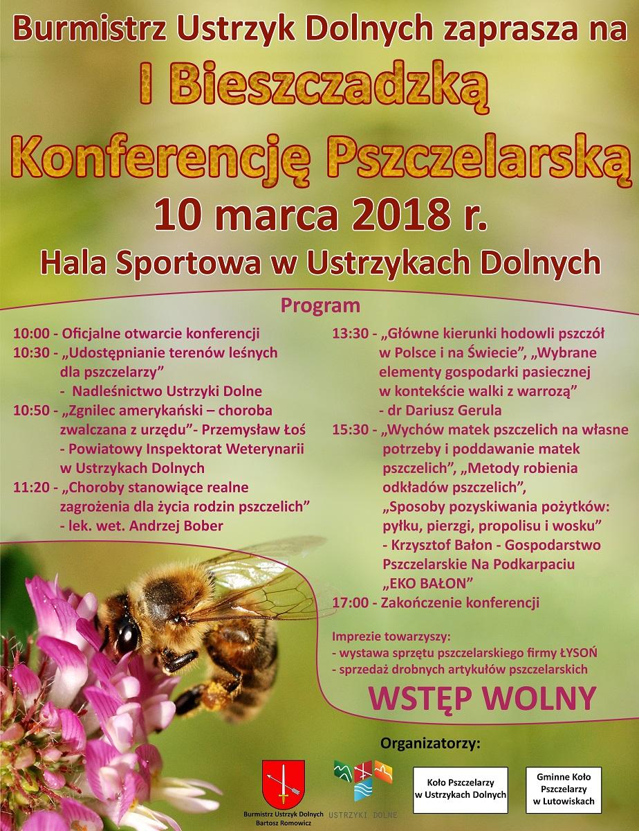 Zapraszamy na I Bieszczadzką Konferencję Pszczelarską w Ustrzykach Dolnych  - Zdjęcie główne