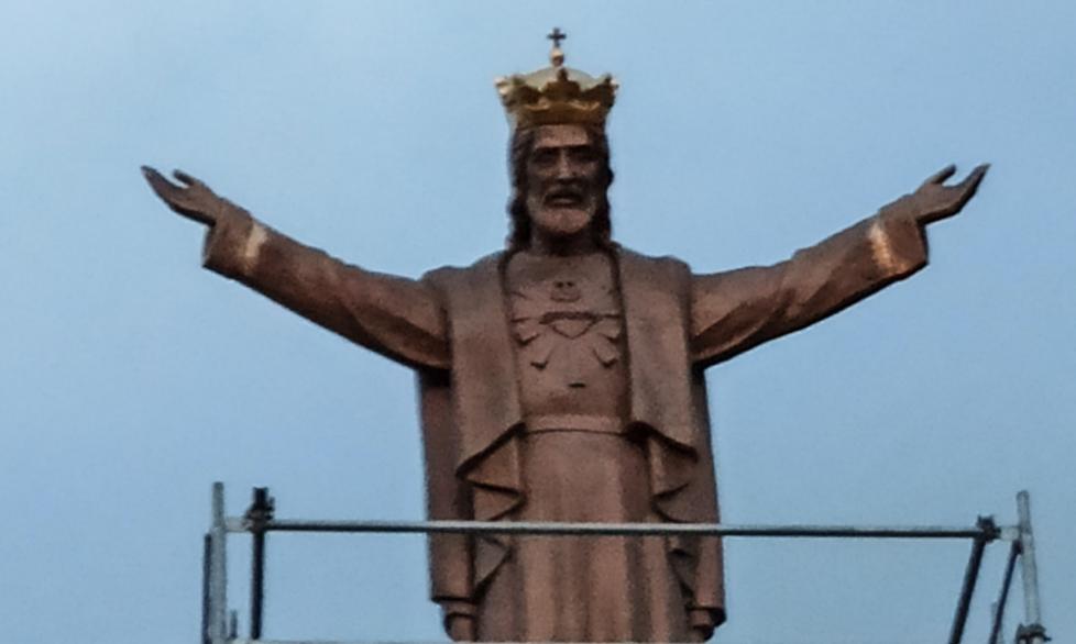 Z PODKARPACIA. Postawili posąg Jezusa - jest mniejszy niż zakładano [FOTO] - Zdjęcie główne