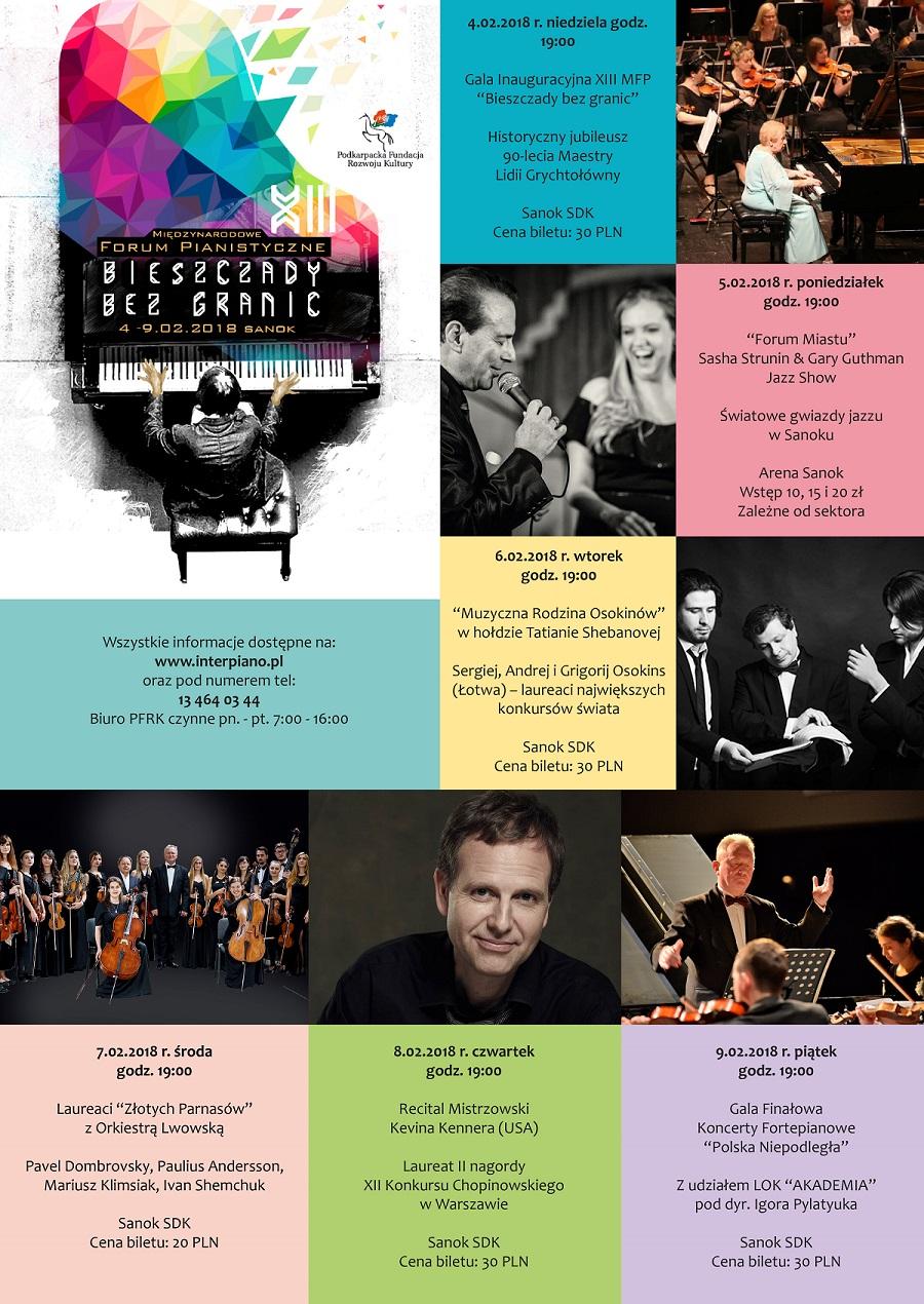 """Międzynarodowe Forum Pianistyczne oraz Festiwal Forum """"Bieszczady bez granic"""" w Sanoku. Start 4 lutego! - Zdjęcie główne"""