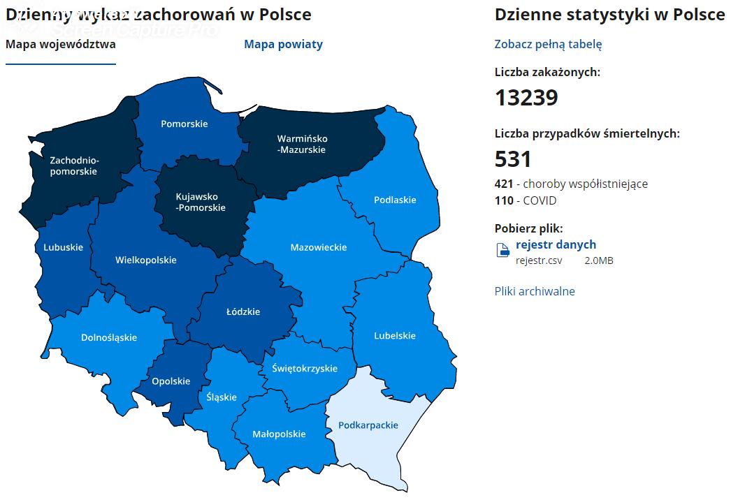 Aktualne statystyki - 9 zakażeń w powiecie sanockim  - Zdjęcie główne