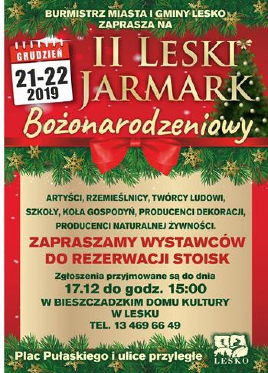 W Lesku odbędzie się II Jarmark Bożonarodzeniowy  - Zdjęcie główne