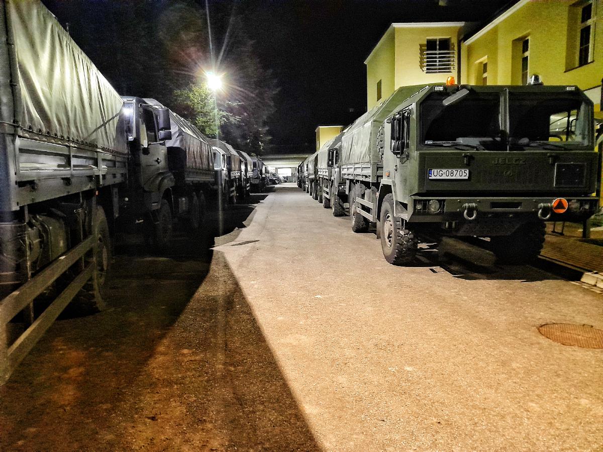 Wojskowe obozowisko w mieście – tymczasowy dom sanockich terytorialsów [ZDJĘCIA] - Zdjęcie główne