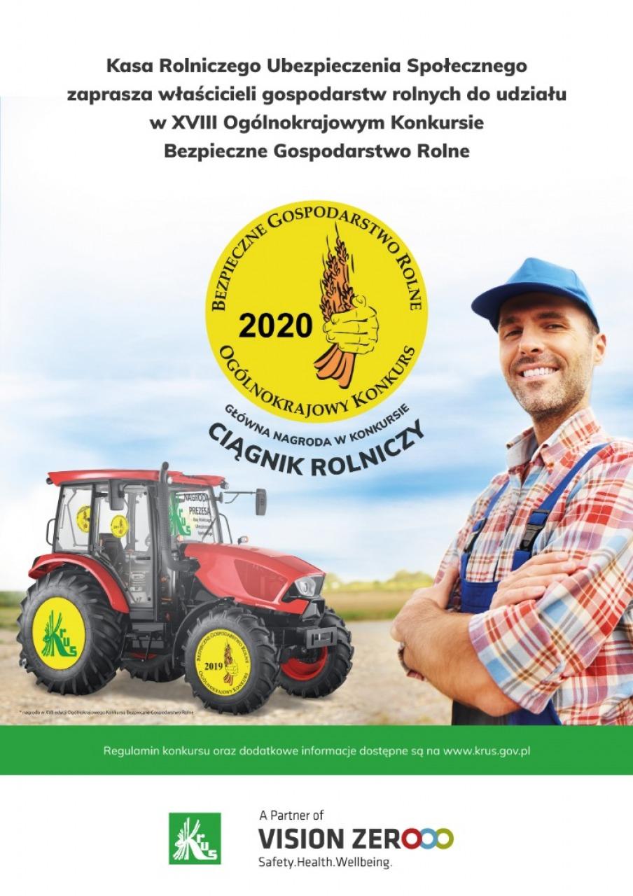 Ogólnokrajowy Konkurs Bezpieczne Gospodarstwo Rolne 2020 - Zdjęcie główne