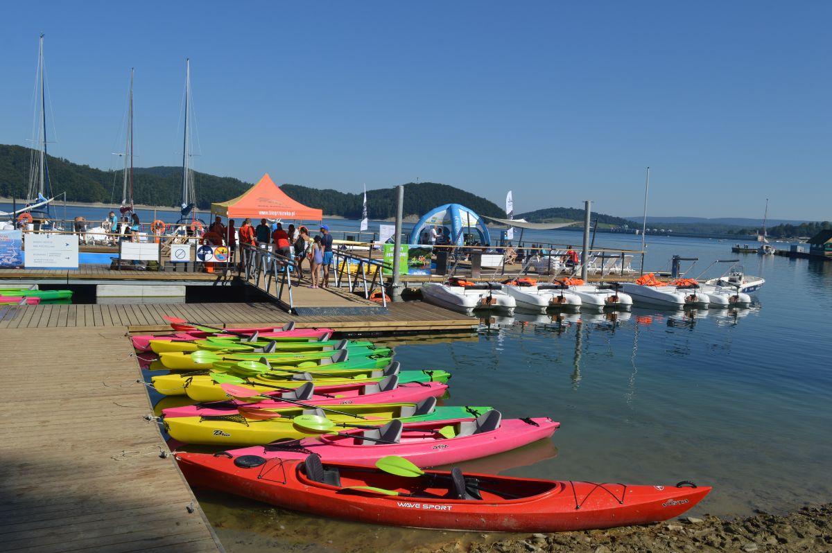 I Regaty Kajakowe na Tafli Bieszczadzkiego Morza Eko Marina 2020 [FOTO+VIDEO] - Zdjęcie główne