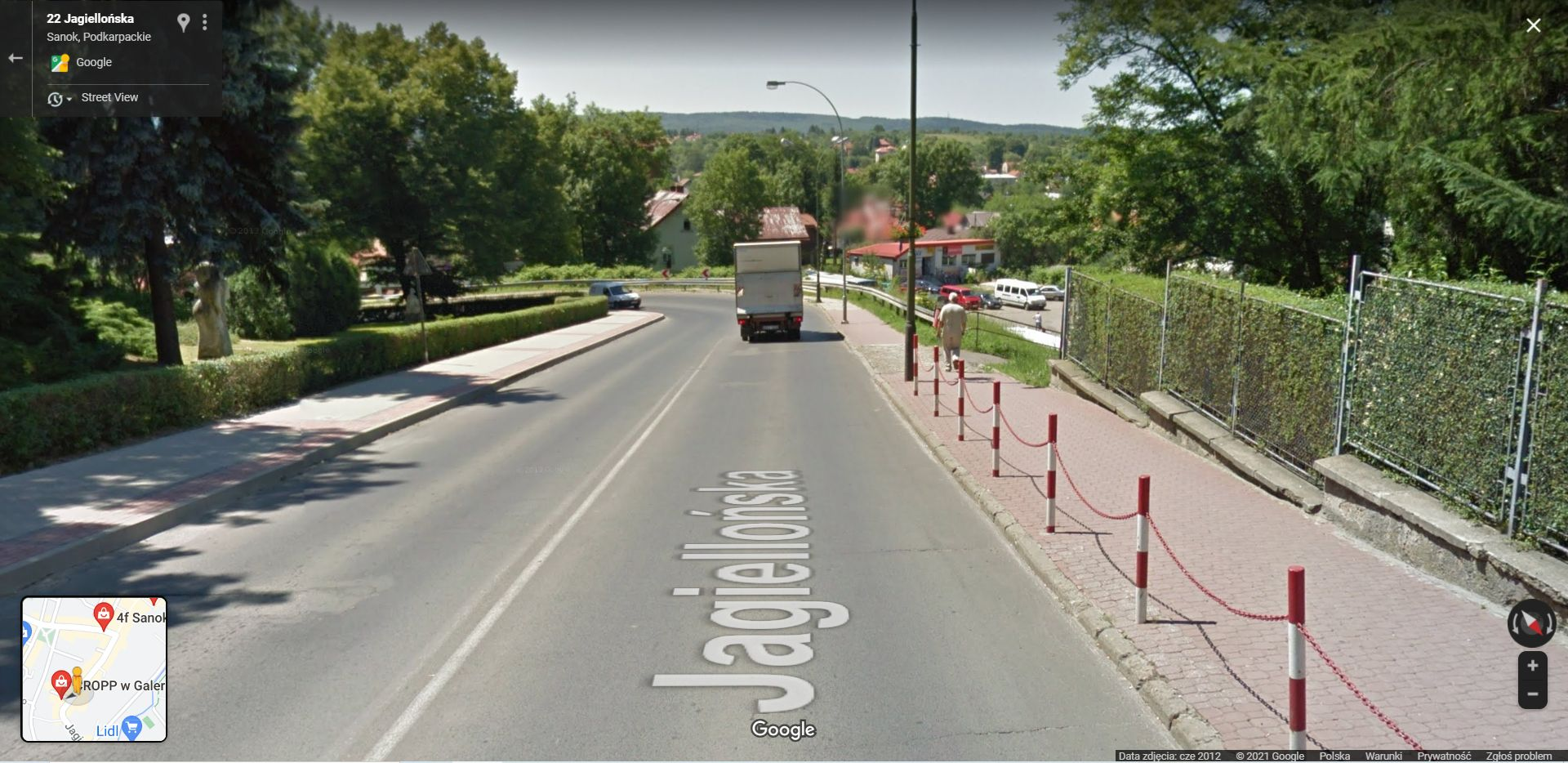 Zmieniający się Sanok na Google Street View - Zdjęcie główne