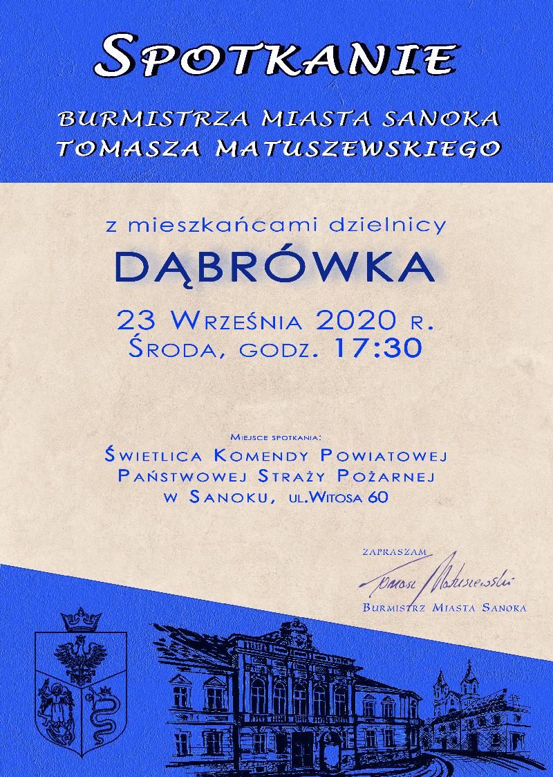 Sanok. Spotkanie mieszkańców z dzielnicy Dąbrówka z Burmistrzem  - Zdjęcie główne
