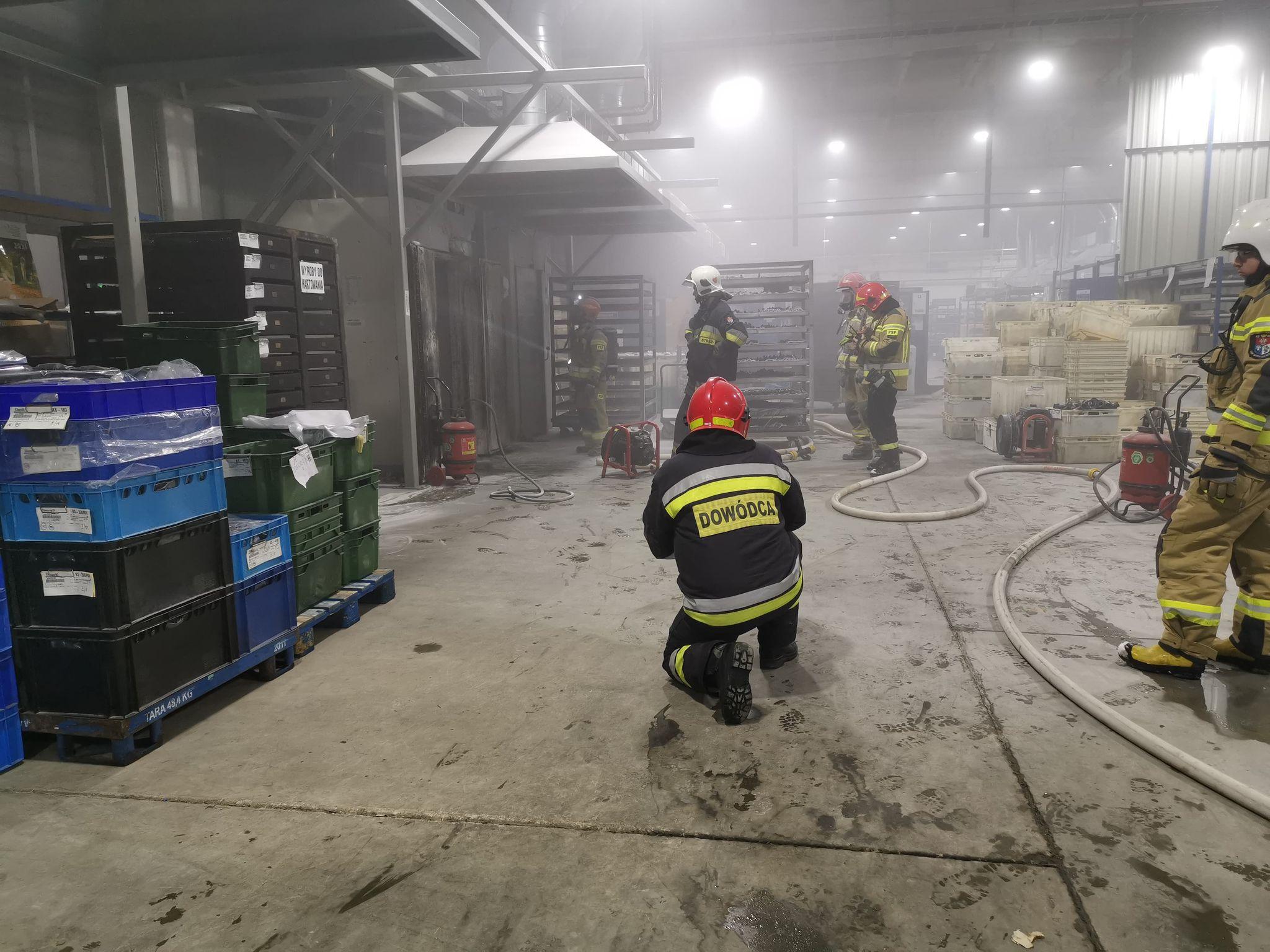 TERAZ! Pożar na jednej z hal dużego zakładu produkcyjnego w Sanoku [ZDJĘCIA] - Zdjęcie główne