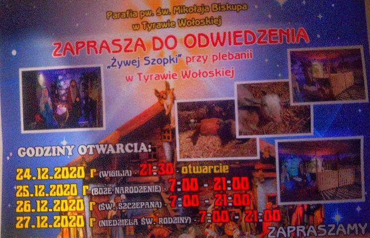 Żywa szopka w Tyrawie Wołoskiej [FOTO] - Zdjęcie główne