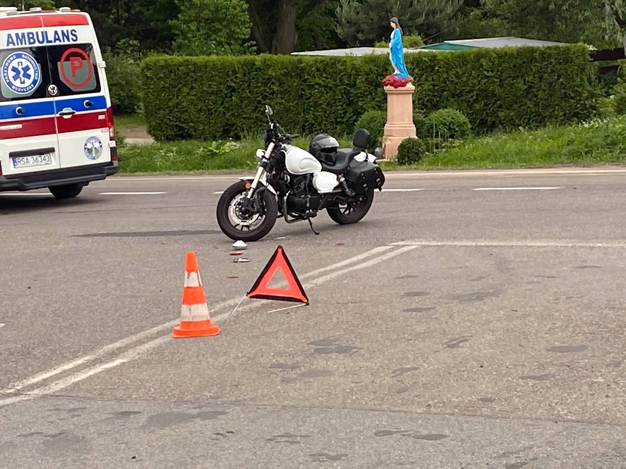 JUROWCE: Wypadek z udziałem motocyklisty [FOTO] - Zdjęcie główne
