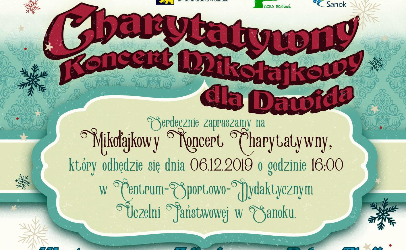 Charytatywny mikołajkowy koncert dla Dawida Radziejewskiego - Zdjęcie główne
