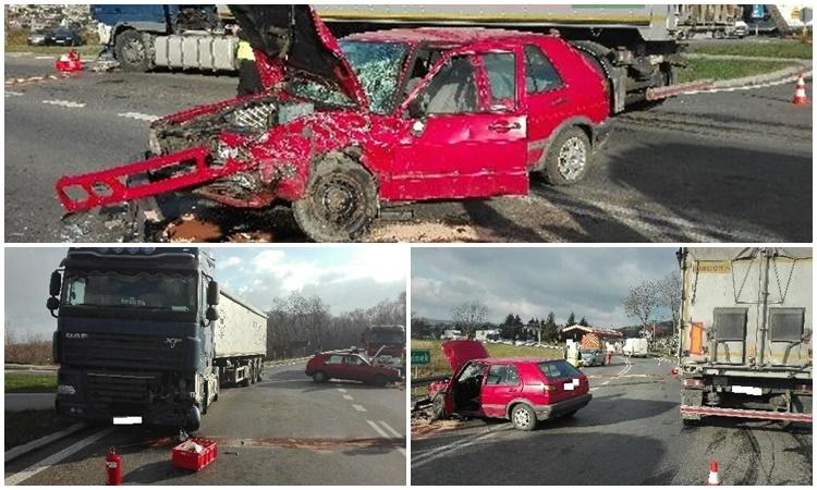 Groźny wypadek w Domaradzu. Kierowca osbówki trafił do szpitala - Zdjęcie główne