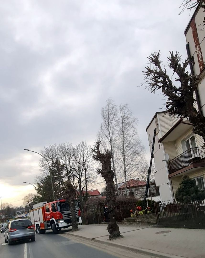 SANOK: Silny wiatr zerwał elewacje budynku [ZDJĘCIA-WIDEO] - Zdjęcie główne