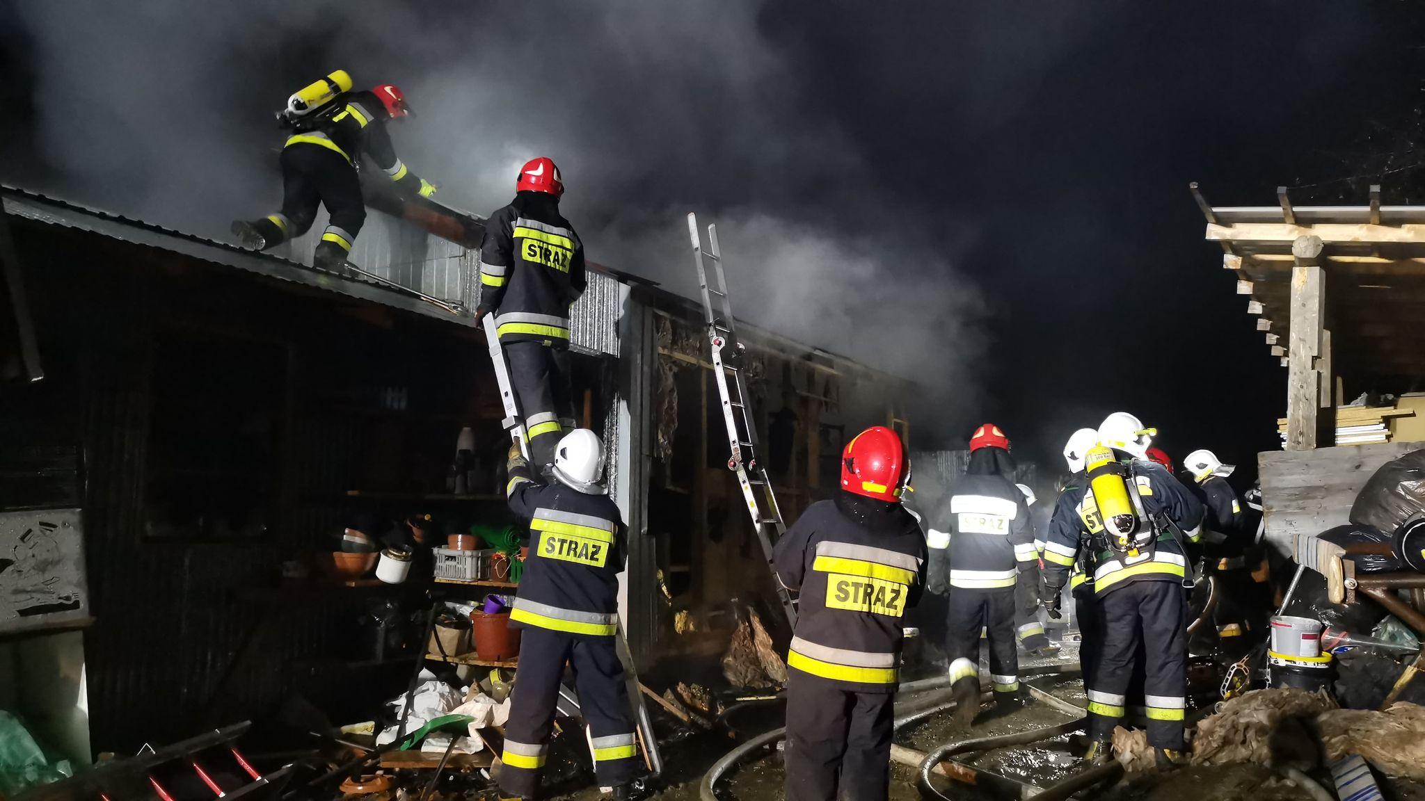 Sanok: Pożar na Kiczurach [FOTO+VIDEO] - Zdjęcie główne