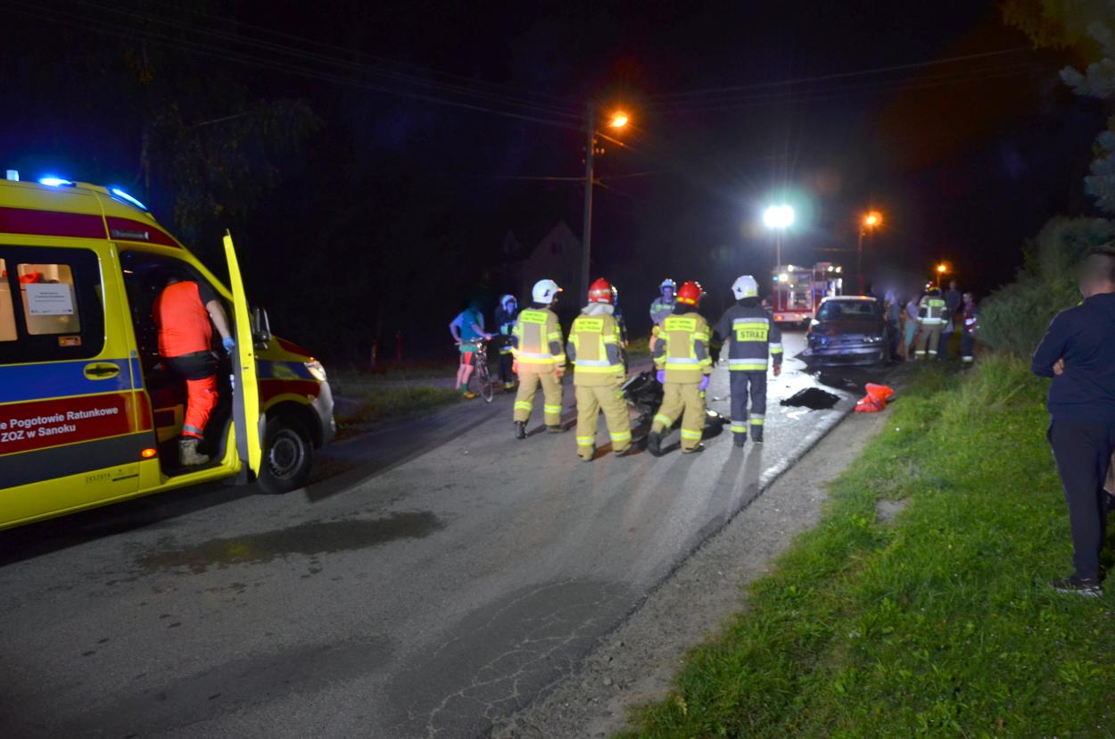 KPP Sanok o wypadku w Strachocinie - Zdjęcie główne