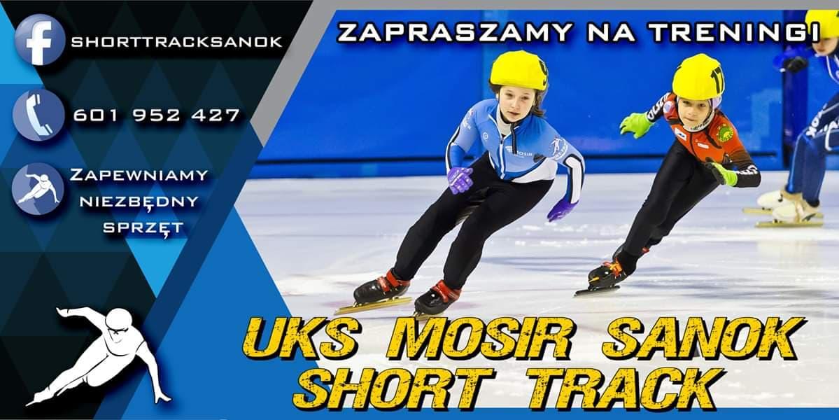 Treningi short-track w sekcji UKS MOSIR Sanok. - Zdjęcie główne