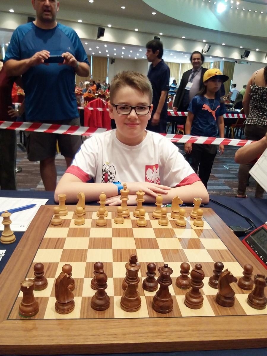 Maciej Czopor, młody szachista z Sanoka na Mistrzostwach Świata FOTO - Zdjęcie główne
