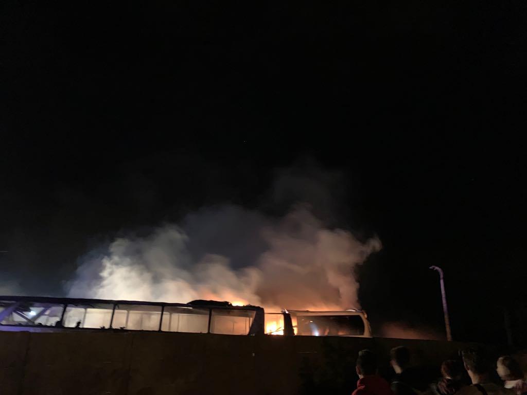 Z OSTATNIEJ CHWILI: Płoną autobusy na zajezdni w Krośnie! [ZDJĘCIA+VIDEO] - Zdjęcie główne